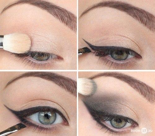 макияж со стрелками пошаговое фото